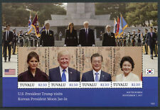 Tuvalu 2018 MNH Donald Trump Visits Korean President Moon Jae-in 4v M/S Stamps