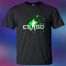 New Counter Strike Global Offensive CS:GO Logo Men's Black T-Shirt Size S-3XL