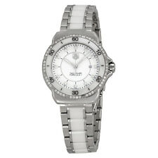 Tag Heuer Formula 1 White Diamond Dial Steel and Ceramic Ladies Watch