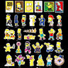 50pcs The Cute Simpsons Cartoon Stickers Skateboard Graffiti Luggage Car  Decal
