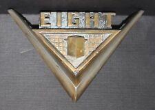 RARE 1955 1956 NASH AMBASSADOR TRUNK V8 EMBLEM BADGE V EIGHT BRASS?