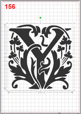 Beautiful Alphabet Letter Y Stencil MYLAR A4 sheet strong resuable Craft ArtDeco