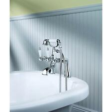 Pfister Savannah 3-Handle Claw Foot Tub Faucet with Handshower Tub Spout Chrome