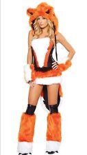 Women Sexy Costume Cosplay Dress Fox Big Bad Animal Fancy Halloween Hoodie Wear