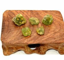 37ct Green Peridot Rough Natural Crystal Gemstone Mineral Specimen Pakistan 5pcs