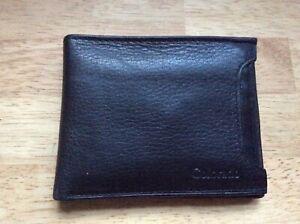 BNWT Colorado Black leather men's wallet front pocket removable card holder