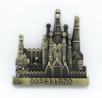 "3D Metal Fridge Magnet ""Barcelona Spain"" Exquisite Crafts Gift Collectibles New"