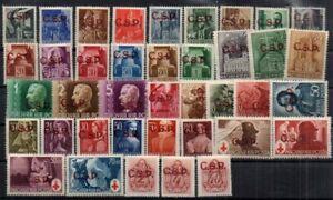 Hungary -Czechoslovakia 1944 39pc diff Rimaszombat  I. complete MNH no guarantee