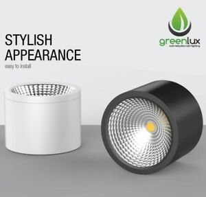 10W 15W 25W 35W Surface Mounted WHITE/BLACK Cylinder LED Downlight CREST Series