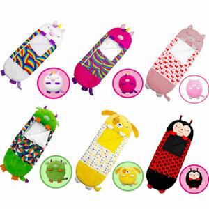 Happy Sleeping Nappers Sleep Bag Kids Boys Girls Pillow Unicorn Cartoon Animal