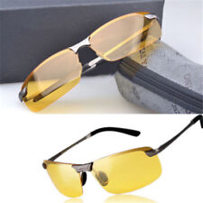 Night Driving Riding Padded Motorcycle Glasses -  Black Frame Yellow Lens