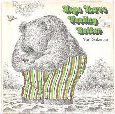 Vintage Children's Book HOPE YOU'RE FEELING BETTER Yuri Salzman HCDJ