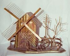 Household - Dutch Windmill Scene Copper Music Box - Vintage - NEW PRICE