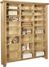 Lyon Solid Oak Furniture Large Cd Dvd Media Storage Cabinet Rack Shelves