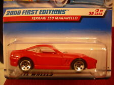 Hot Wheels Ferrari 550 Maranello 2000 First Editions #2 of 36!! Red