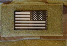 Reverse Mini-SMALL US Flag Patch Tan/Black NSWDG CAG NSW DEVGRU SFOD-D Infrared