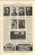 1919 Chaos And Order In Germany Friedrich Ebert Kurt Eisner