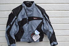 NEW TEKNIC CHICANE TEXTILE TOURING DUAL SPORT JACKET SILVER/BLACK 46 US 56 EURO