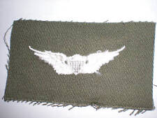 US Army 1960 S Senior Pilot Badge Color on OD Twill