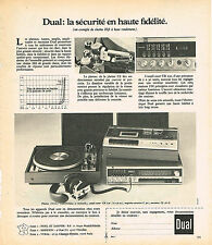 PUBLICITE ADVERTISING 054  1973   DUAL  hi-fi   chaine stéréo