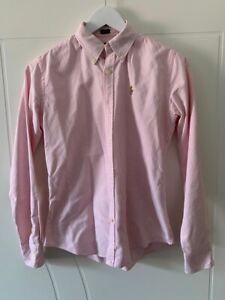 Ladies Pink Ralph Lauren Shirt, Size 4 US, Uk 8 Slim Fit