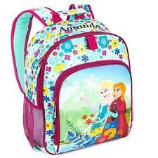 Disney Store Deluxe Frozen Princess Anna & Elsa Flower Sequin Girls Backpack NEW