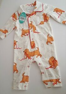 BNWT Peter Alexander Cute Dog Print One Piece Size 3 to 6 Months