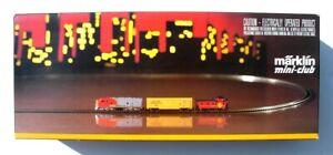 Marklin #8168 Z Scale Mini-Club Complete Freight Train Set + 5 Additional Cars