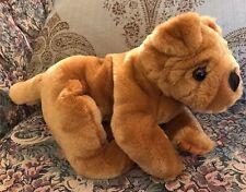 "New Toys R Us Animal Alley Shar Pei Dog Plush 11"" Stuffed Puppy Brown NWT #F4"