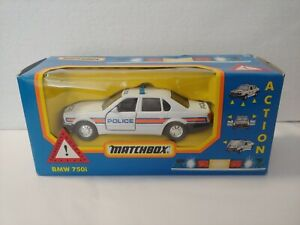 Vintage MATCHBOX SUPER KINGS K-154 EM-4 BMW 750iL POLICE CAR 1:43 DIECAST RARE