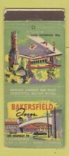 Matchbook Cover - Bakersfield Inn CA WEAR 30 Stick