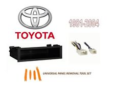 Fits 1981-2004 Toyota Car Stereo Radio Install Pocket Trim Dash Kit w/ Harness