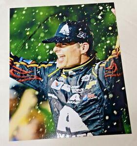 Jeff Gordon NASCAR HALL OF FAMER VICTORY CELEBRATION 8x10 autographed photo