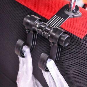 Durable Double Auto Car Back Seat Headrest Hanger Holder Hook Clip For Bag Purse