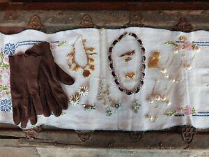 Vintage Costume Modern Jewelry Lot w/ VTG gloves #79