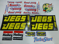 NASCAR NHRA drag race car racing decal window sponsor stickers lot HOLLEY JEGS