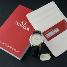 Omega 45103000 DeVille Quartz Stainless Steel Man's Watch, MINT COND, Card, Book