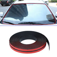 Black Car Sticker Sill Strip Windshield Roof Seal Rubber Strip Noise Insulation