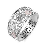 Fashion Woman Jewelry 925 Silver   Daisy Wedding Band Ring Gift Sz 6-10