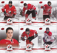 14-15 Team Canada Juniors Jared McCann /199 Red Exclusives Upper Deck 2014