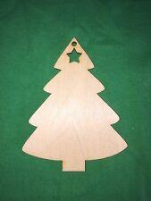 10 Árbol De Navidad Con Estrella De Madera Formas Colgante Etiquetas Artesanales Adornos