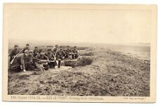 guerre  1914-1915  sur le front  compagnie de mitrailleurs
