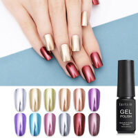 LILYCUTE 7ml Metallisch UV Gellack Mirror Silver Colors Soak Off Nagel Kunst Gel