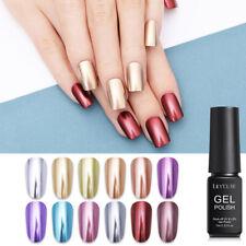 Lilycute 7ml Esmalte gel metálico Oro Color Soak Off Uñas Gel UV 12 Colores