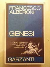 LIBRO FRANCESCO ALBERONI - GENESI - SAGGI BLU GARZANTI 1989