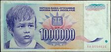 Yugoslavia banknote - inflation - 1000000 (million) dinara - year 1993 - a boy