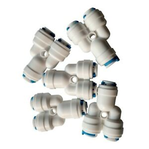 """20PCS 1/4"""" Tube OD 3 Way Y Fitting Splitter Quick Connector Ro Water Purifier"""