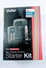 NEW Vivitar Slim Digital Camera Starter Kit K6