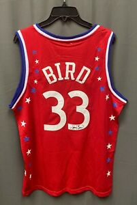 Larry Bird Signed East All Star Game Mitchell & Ness Jersey Sz L JSA WITNESSED