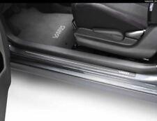 Genuine Toyota Yaris Black w/ White Logo Front Set Door Sills 05|08 PZ438B218600